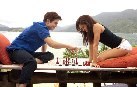 Robert Pattinson and Kristen Stewart in The Twilight Saga: Breaking Dawn Part 1