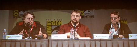 Del Toro and Refn at Comic-Con.