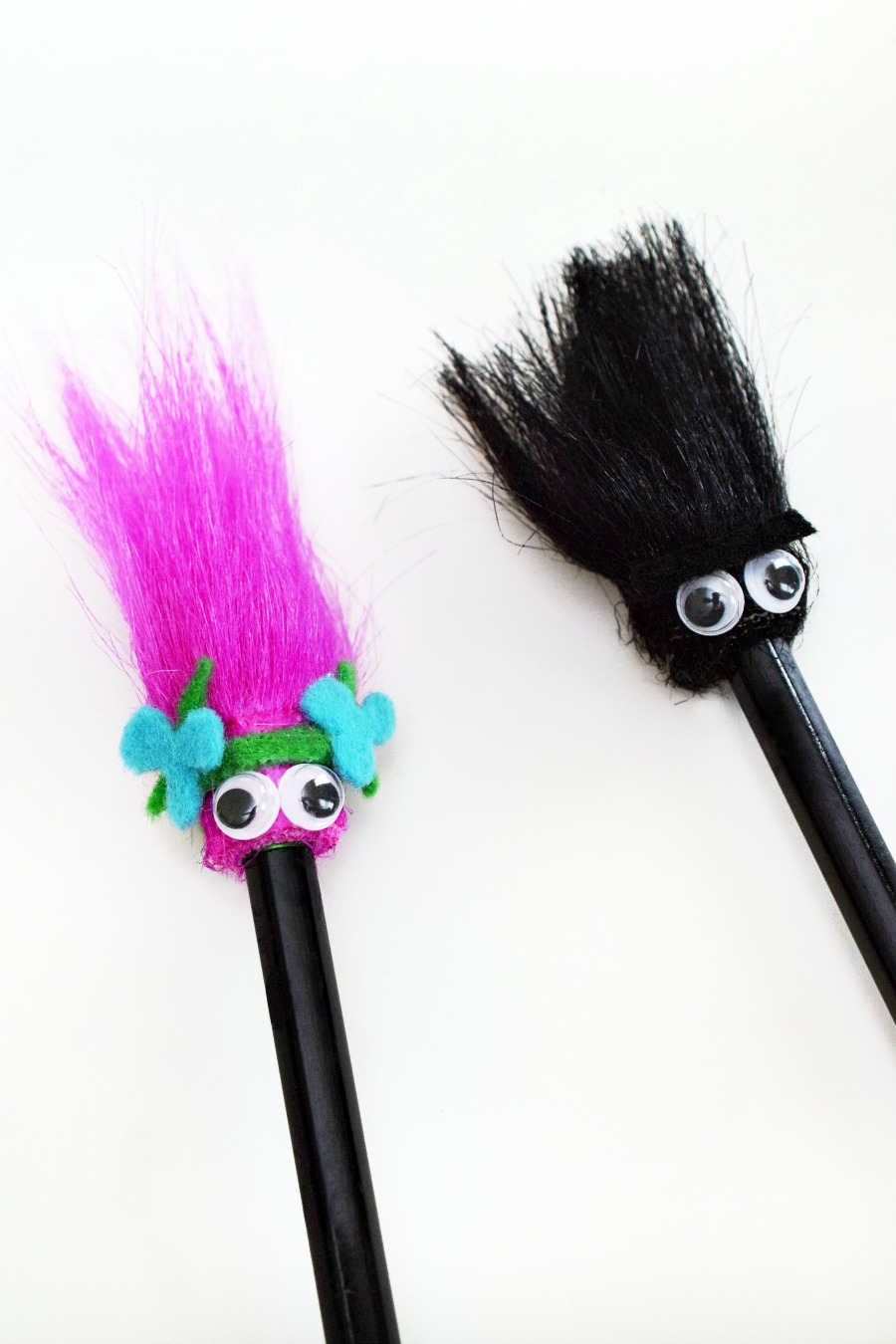 Diy Trolls Pencil Toppers Make Homework More Fun Fandango