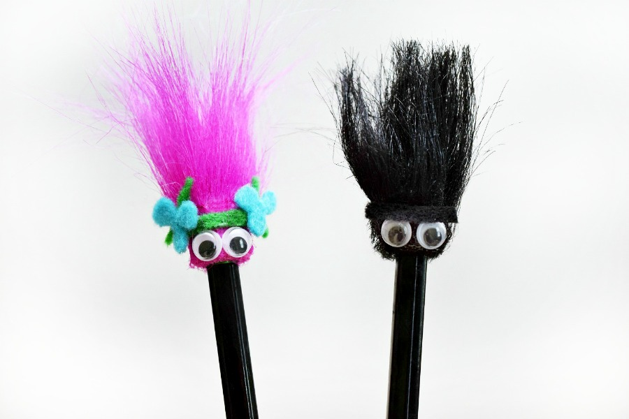 diy trolls pencil toppers make homework more fun fandango