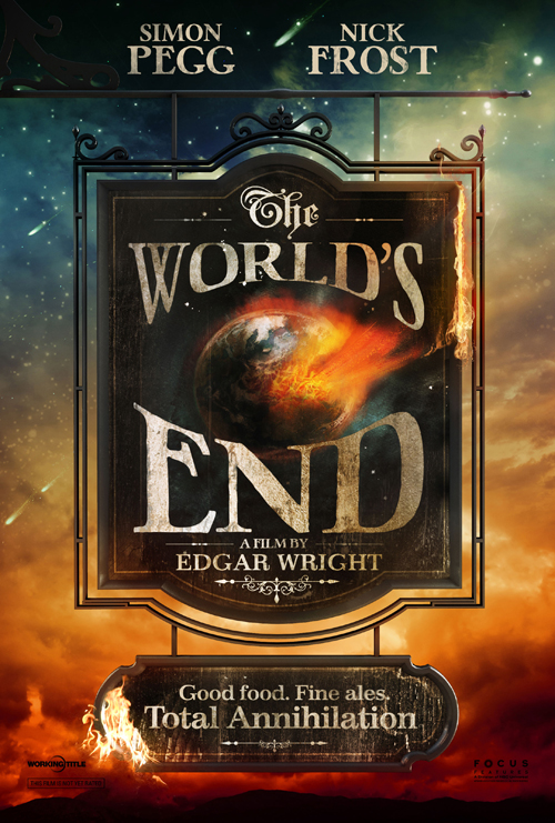 Erstes Filmplakat zu «The World's End», via Fandango