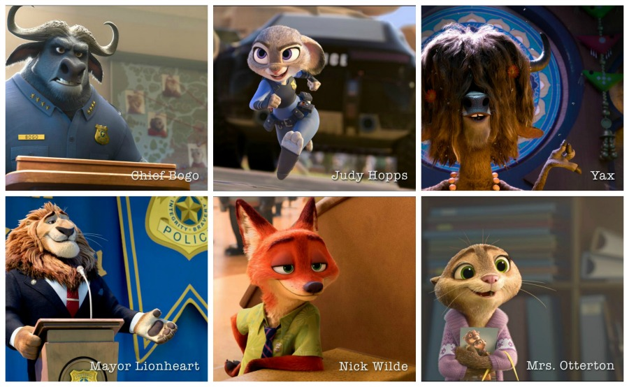 meet the characters zootopia try