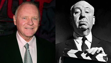 Anthony Hopkins and Alfred Hitchcock