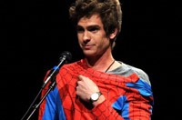 Andrew Garfield dresed as Spider-Man at Comic-Con.