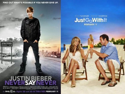 You Rate the Box Office Winner: 'Just Go With It' and 'Never