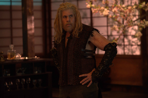 Ron Perlman in Bunraku.