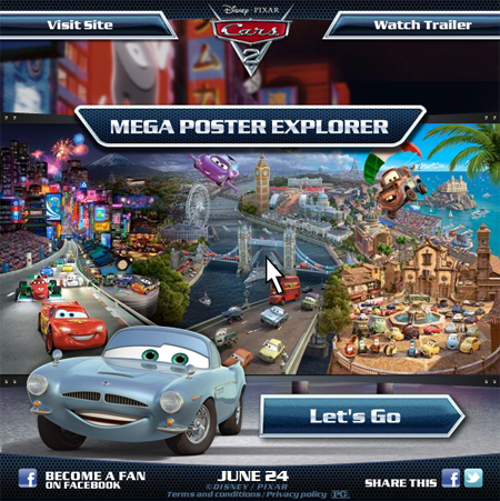 New Exclusive 'Cars 2' Clip and Cars Interactive Poster ...