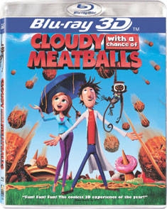 'Cloudy With a Chance of Meatballs 3D' on DVD