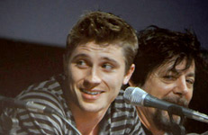 Garrett Hedlund and Steven Lisberger