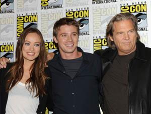 Olivia Wilde, Garrett Hedlund and Jeff Bridges