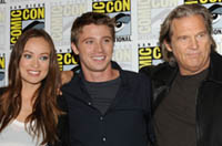 Olivia Wilde, Garrett Hedlund and Jeff Bridges