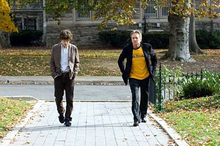 Jesse Eisenberg and Michael Douglas in 'Solitary Man'
