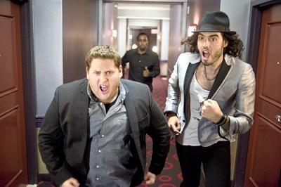 Jonah Hill and Russell Brand in 'Get Him to the Greek'