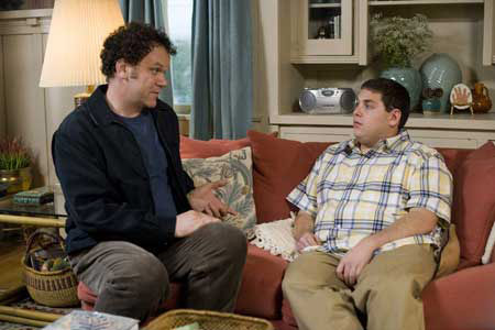 John C. Reilly and Jonah Hill in 'Cyrus'