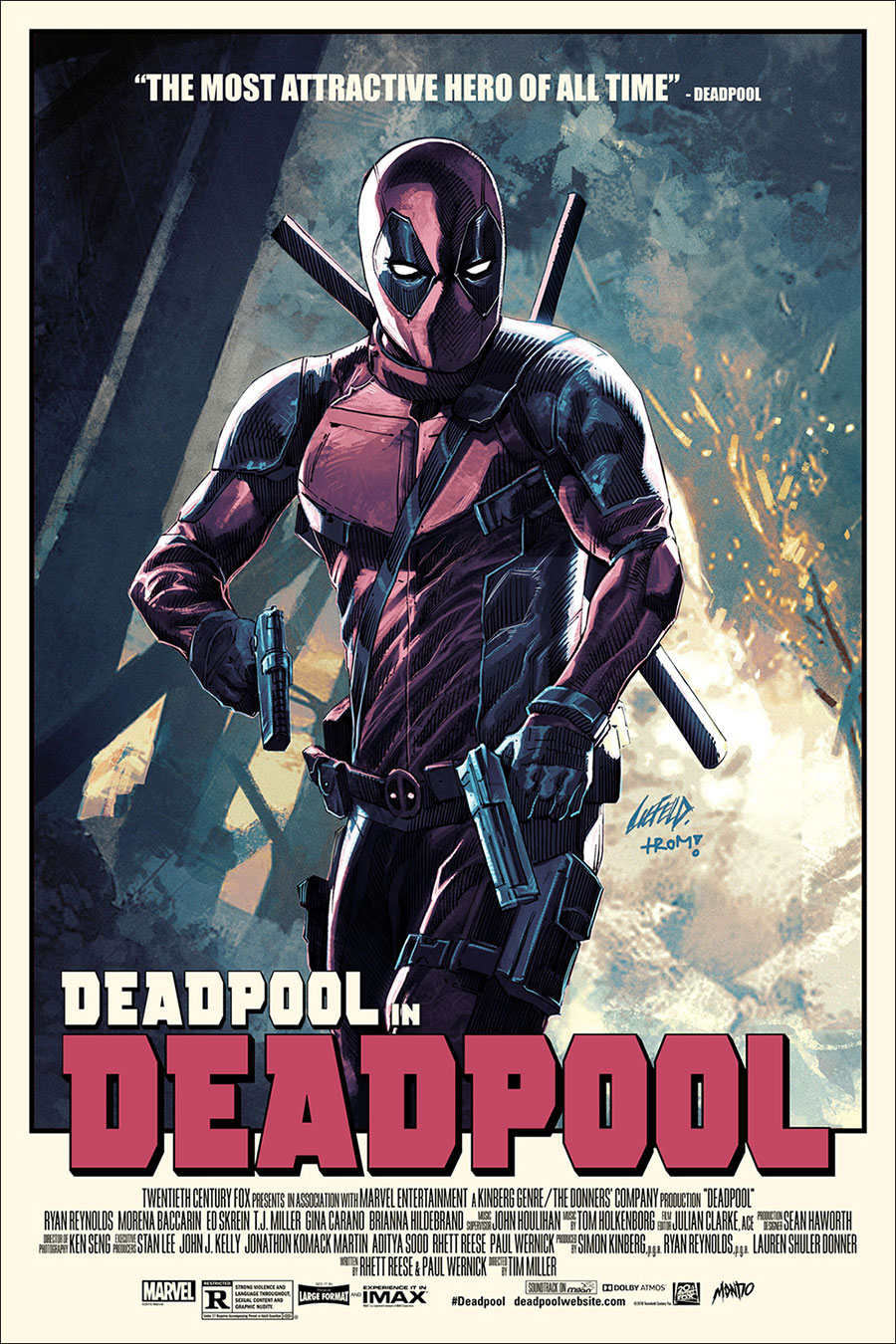 the creator of deadpool made an awesome mondo poster