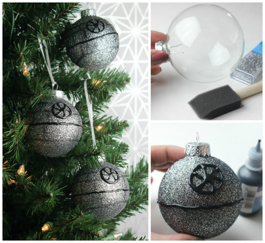 Homemade Christmas Star Ornament: DIY Death Star Ornament Brings 'Star Wars' Home