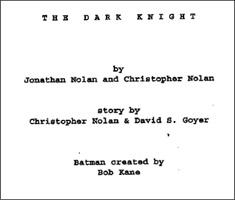 The Dark Knight script