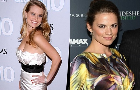 Alice Eve and Hayley Atwell