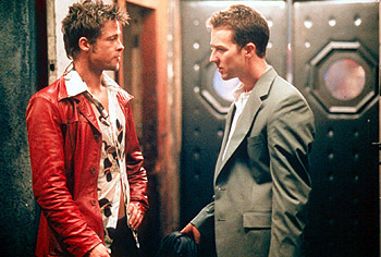 Brad Pitt and Edward Norton in 'Fight Club'