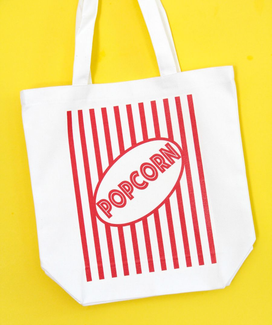Make this movie tote bag fandango theres nothing like a night out at the movies whenever we head to the theater we always have so much to bring our own popcorn salt bowls to share the xflitez Gallery