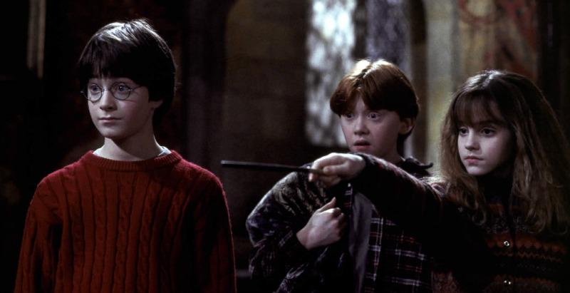 Daniel Radcliffe, Rupert Grint and Emma Watson in Harry Potter