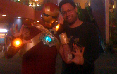 Ben Boulton and Chuck Walton at Iron Man 2 IMAX Show
