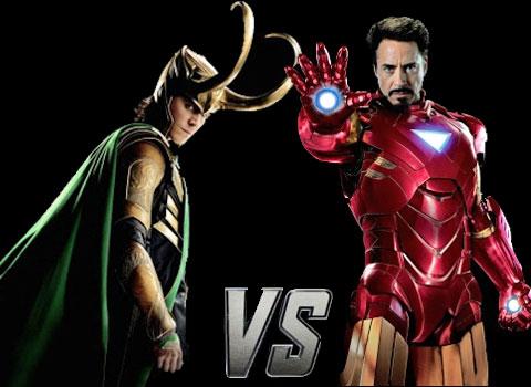 avengers showdown iron man vs loki tell us who wins and you