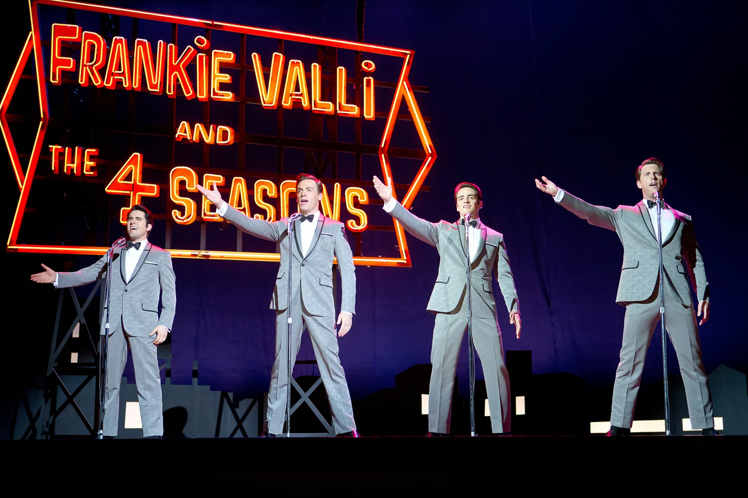 John Lloyd Young, Erich Bergen, Vincent Piazza and Michael Lomenda star in Jersey Boys
