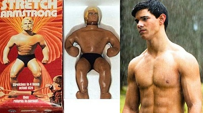 Taylor Lautner as Stretch Armstrong