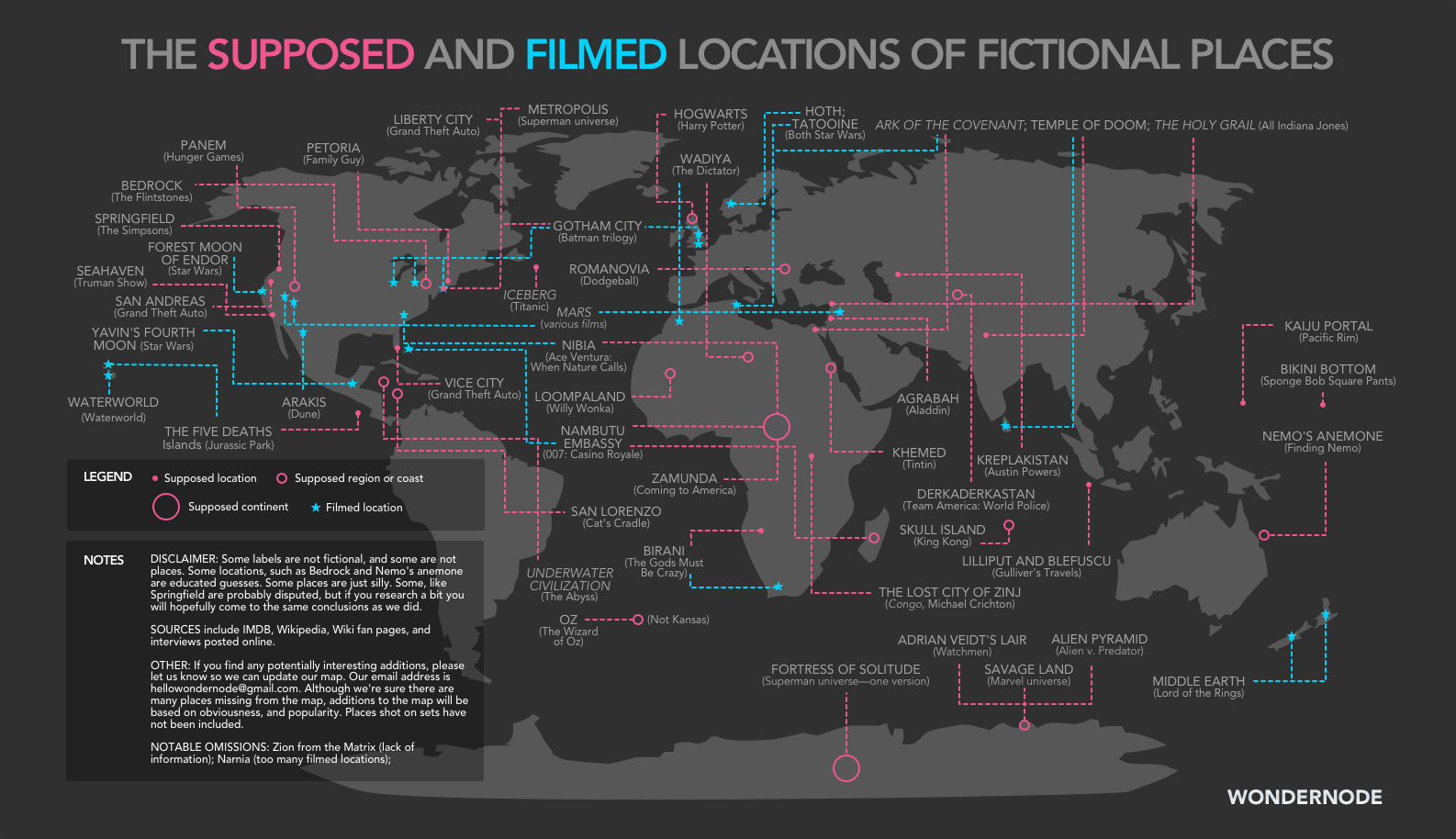 From Hogwarts to Gotham, Here\'s a Map of Your Favorite Movie ...
