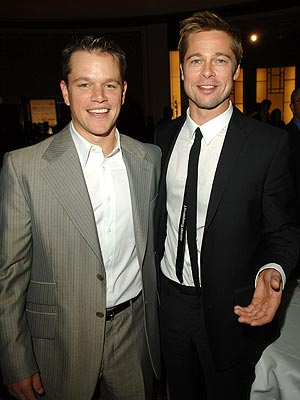 Photo of Matt Damon & his friend  Brad Pitt