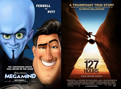 'Megamind' and '127 Hours'