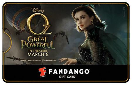 Rachel Weisz Oz Fandango Gift Card