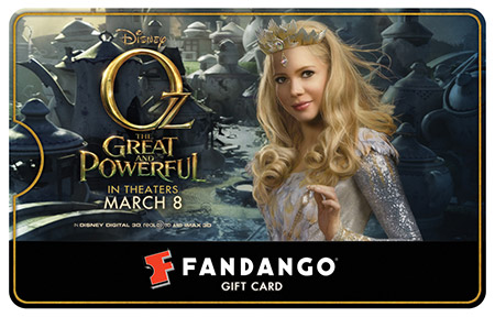 Michelle Williams Oz Fandango Gift Card