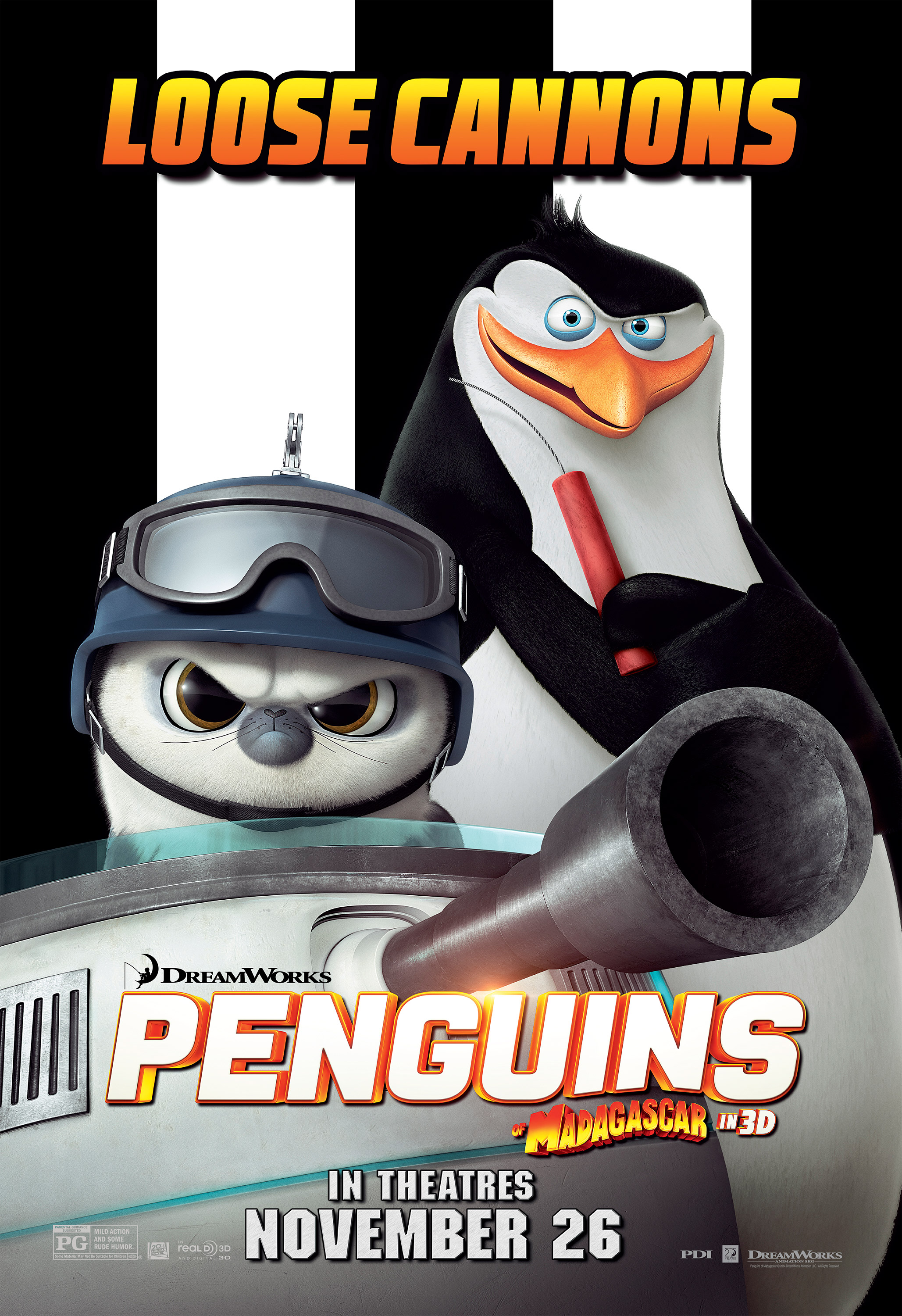 Exclusive penguins of madagascar poster debut fandango