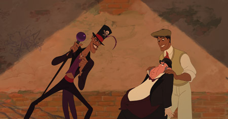 Exclusive: Dr. Facilier, Lawrence and Prince Naveen in The Princess and the Frog