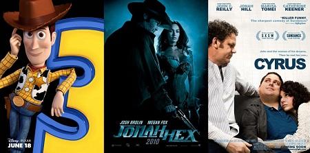 'Toy Story 3' vs. 'Jonah Hex' vs. 'Cyrus'