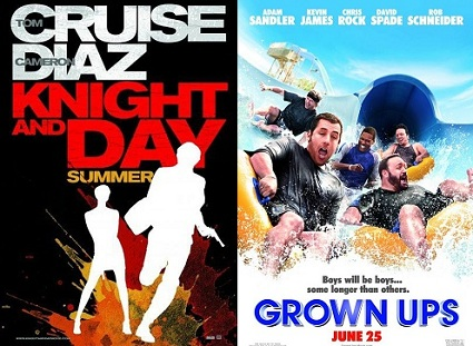 'Knight and Day' vs. 'Grown Ups'