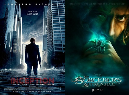 'Inception' and 'The Sorcerer's Apprentice'