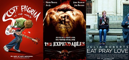 'Scott Pilgrim vs. the World,' 'The Expendables' and 'Eat Pray Love'