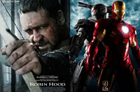 'Robin Hood' and 'Iron Man 2'