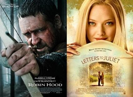 'Robin Hood' vs 'Letters to Juliet'