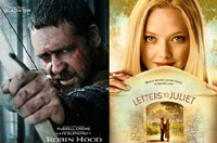 'Robin Hood' vs 'Letters to Juliet'