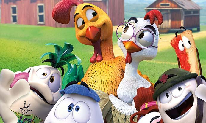 un gallo con muchos