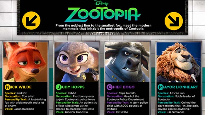 meet the characters of zootopia fandango