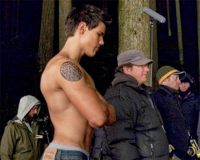 """Taylor Lautner on the set of """"New Moon."""""""