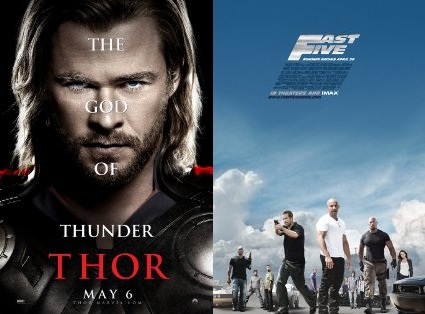 Thor and Fast Five