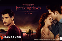 Breaking Dawn Limited Edition Fandango Gift Cards