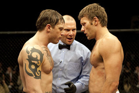 Tom Hardy and Joel Edergton in Warrior