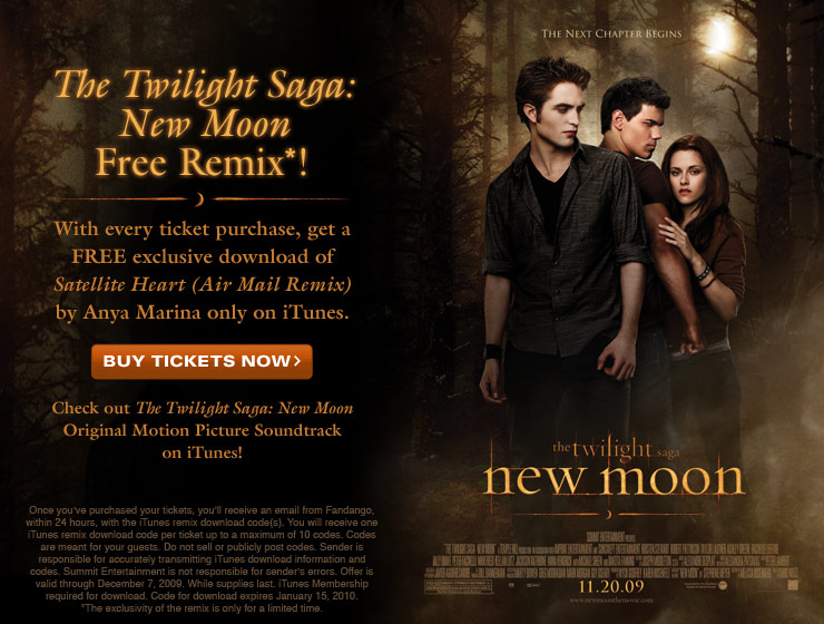 The Twilight Saga: New Moon Free iTunes Download!
